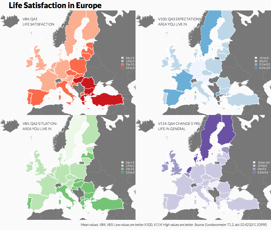 Choropleth Map of Europe at Country-Level (Panel)