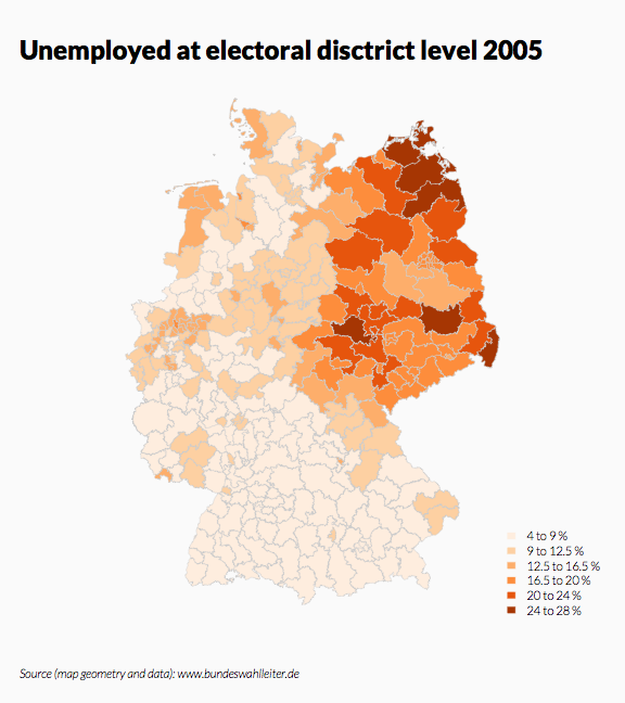 Choropleth Map of Germany at District-Level