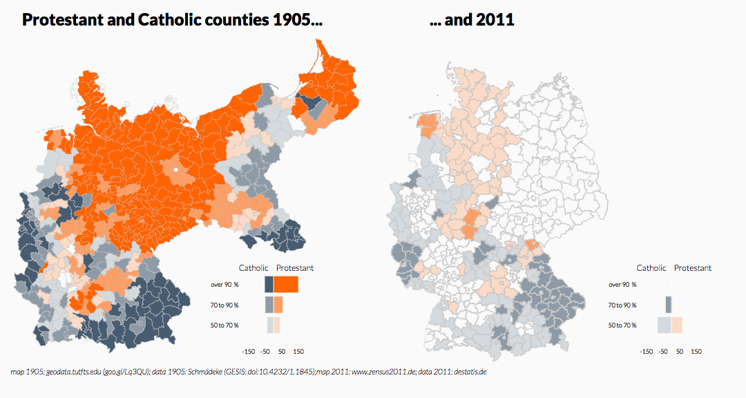 Choropleth Map of Germany at District-Level (Panel)