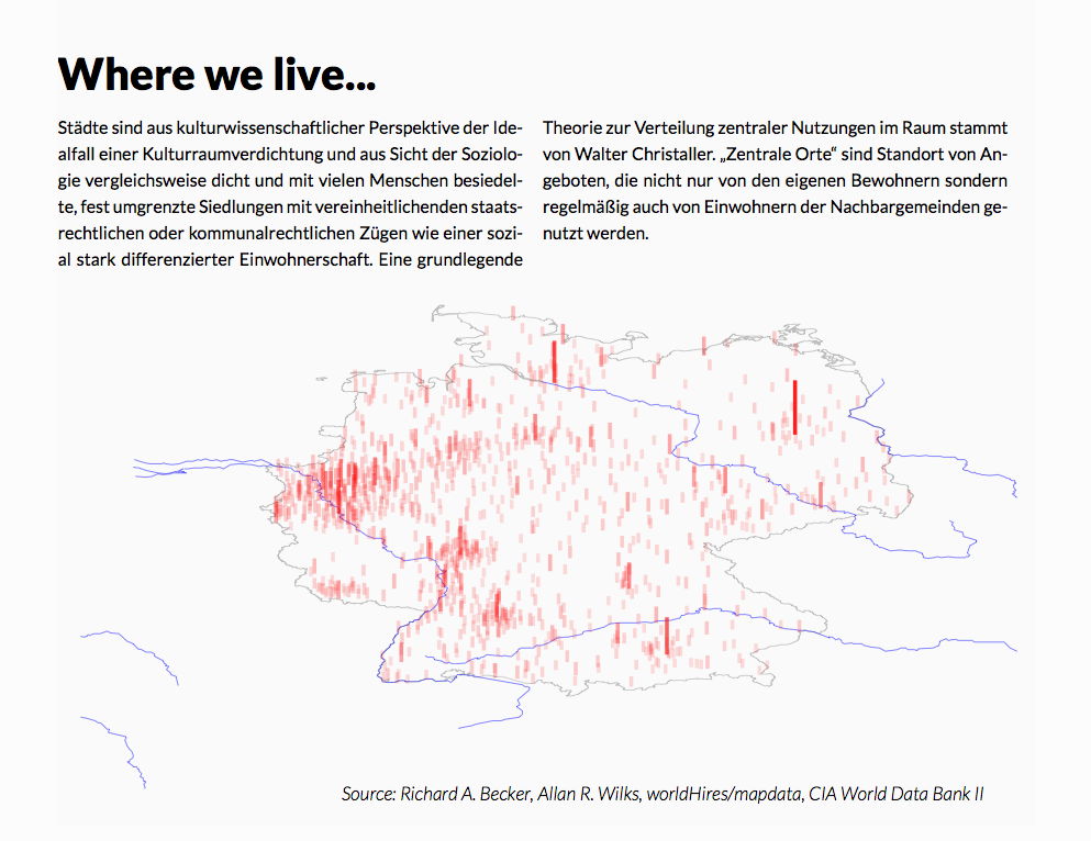 Map of Germany as Three-Dimensional Scatter Plot