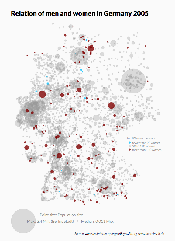 Map of Germany as Scatter Plot