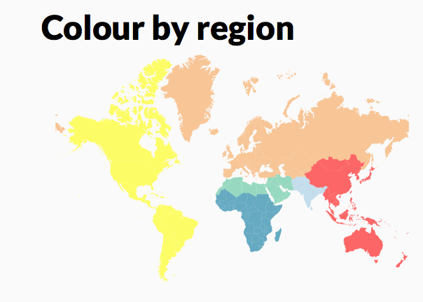World Choropleth Map: Regions